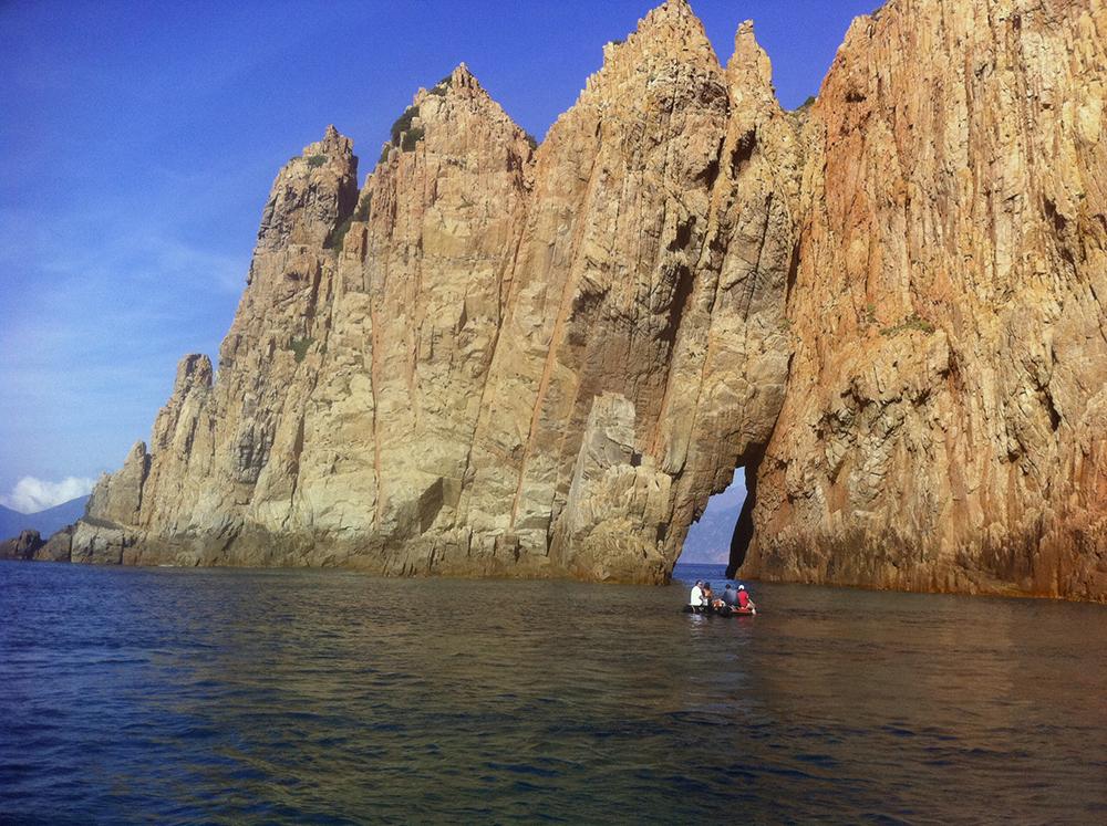 navigation vers la Corse