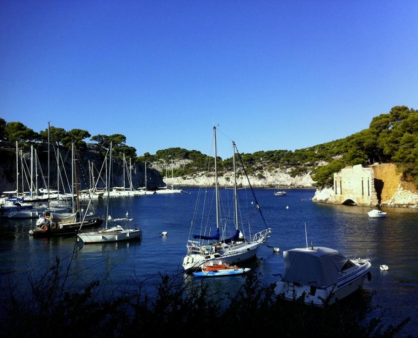 navigation vers Port Miou près de Cassis