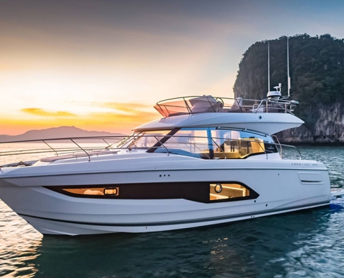 cruiser boat Prestige 420 profil